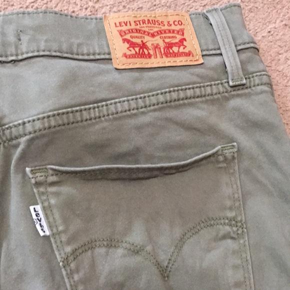 Olive Green Levi Skinny Jeans